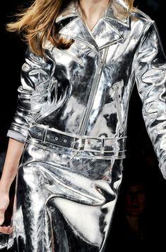 Blumarine at Milan Fashion Week Fall 2012, silver, leather