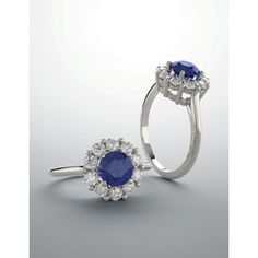 14kt White Blue Sapphire & 1/2 CTW Diamond Ring