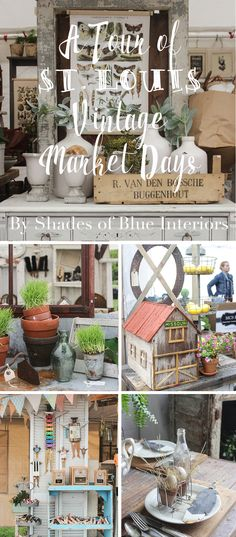 A photo tour of some of the best displays and vignettes at the Spring 2016 show of St. Louis Vintage Market Days. Lots of home decor