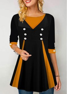 Material : Polyester, Spandex Washing Instructions : Hand Wash /Machine Washable Package Contents : 1 X Blouse Style : Casual Clothing's Length : Regular Pattern Type : Patchwork Sleeve's Length : Long Sleeve Color Scheme : Black