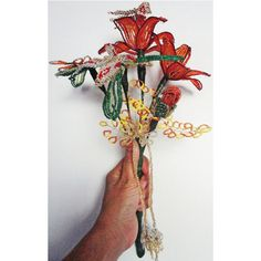Orange Flame Butterfly beeded Bouquets for all those special occasions just for $18