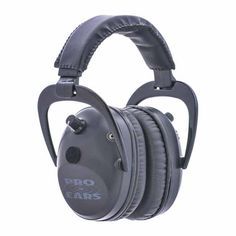 Pro Ears Electronic Hearing Protection Pro Tac Plus Gold, Black, Lithium 123 Battery Shooting Accessories, Hearing Protection, Earmuffs, Circuit Board, Audiophile, Headset, Headphones, Ears, Leather