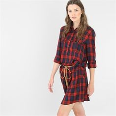 Robe chemise à carreaux Plaid, Shirt Dress, Couture, Shopping, Shirts, Inspiration, Clothes, Tops, Dresses