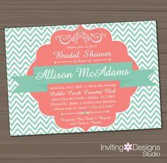 Printable Bridal Shower Invitation Wedding by InvitingDesignStudio