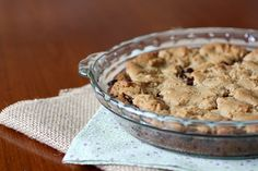 Deep dish chocolate chip cookie pie.  Extremely sweet!!! Great for a girls sleepover or a group of boys over with a huge sweet tooth!!