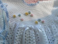 Free Crochet Baby Dress Patterns - Bing Images  I would make it white and use it for Christening.