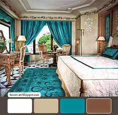 Black and Turquoise Bedroom | Turquoise Bedroom ideas . Classic bedroom with Turquoise