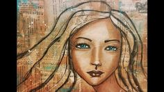 Watch as I work with many of my favorite mixed media tools to make this whimsical girl! Find me at karencampbellartist.com Find my course at karencampbellart...