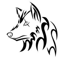 ... by user wolf tribal más lobos wolf tribal unicorn fluffy tattoos