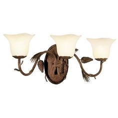 Kalco Ponderosa 3 Light Vanity Light Shade Type: Travertine