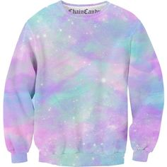 Dusted Pastel Galaxy Allover Printed Sweatshirt ❤ liked on Polyvore featuring tops, hoodies, sweatshirts, galaxy sweatshirt, purple sweatshirt, oversized tops, cosmic sweatshirt and galaxy print sweatshirt