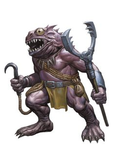 Kuo-toa, Monitor (from the D&D fifth edition Monster Manual). Art by Zoltan Boros.