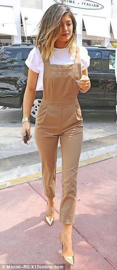 kylie jenner long sleeve brown dress - Google Search