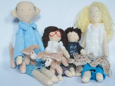 Handmade personalized family doll, made by photo