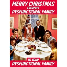 """""""Merry Christmas From My Dysfunctional Family To You Dysfunctional Family"""" Greeting Card Preview"""