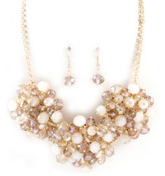 Bobbi Necklace in Champagne Crystal