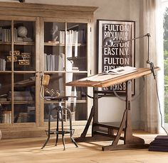 """office work space - Restoration Hardware -Home Office- French Drafting Table"""""""