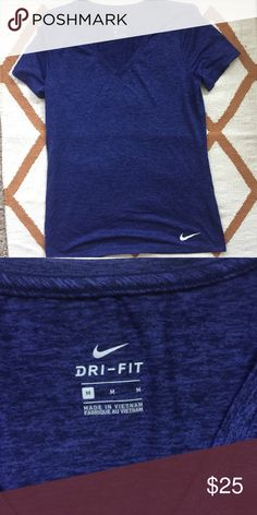 Nike Dry Git Tee NWOT Nike Dry Fit. V neck, color is navy. great shirt! Size M. ❤️ No Trades ❤️ Reasonable offers accepted ❤️ If it doesn't fit, just resell!  ❤️ Enjoy!! Nike Tops Tees - Short Sleeve