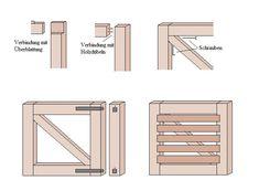 Holztor Bauzeichnung