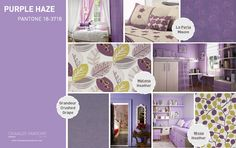 Pantone Spring 2014 interior decor inspiration Purple Haze.  Break out the Jimi Hendrix...this passionate color works well in the boudoir.