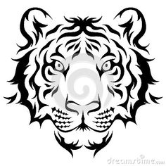 Tribal Tiger - Download From Over 37 Million High Quality Stock Photos, Images, Vectors. Sign up for FREE today. Image: 45950969