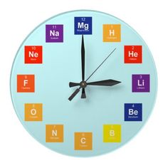 Periodic table wall art element print home playroom decor periodic table clock urtaz Images