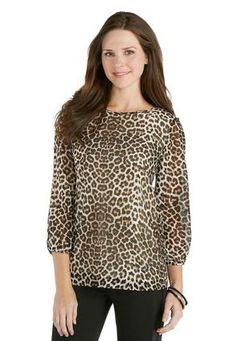 Cato Fashions Leopard Bow Back Blouse #CatoFashions