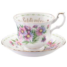 Royal Albert Flower of the Month September Teacup & Saucer