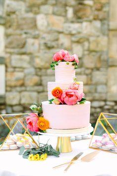 Pink wedding cake   Wedding & Party Ideas   100 Layer Cake Wedding Cake Decorations, Wedding Desserts, Cake Wedding, Textured Wedding Cakes, Rainbow Wedding, 100 Layer Cake, Fashion Cakes, Wedding Cake Inspiration, Wedding Colors