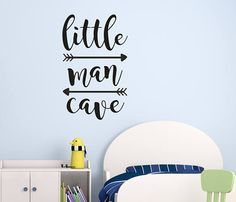 Little Man Cave Wall Decals Kids Wall Quotes Wall Quote