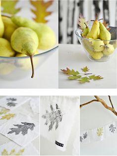 Sinnenrausch leaf print bunting