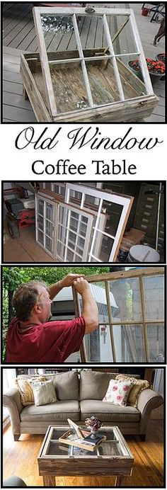 Kaila's Place| How to make a window coffee table