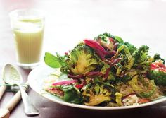 Broccoli Stir-Fry with Ginger-Avocado Sauce via @vegtimes