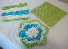 Lime Crochet Kitchen Set by MountainMadeCrochet on Etsy, $20.00