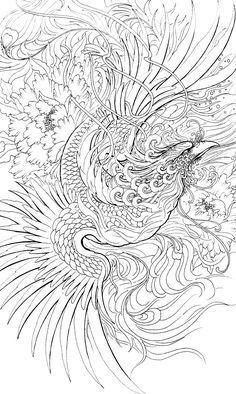 Bird in pencil Japanese Tattoo Art, Japanese Tattoo Designs, Japanese Art, Japanese Phoenix Tattoo, Traditional Japanese, Kunst Tattoos, Body Art Tattoos, Sleeve Tattoos, Small Phoenix Tattoos
