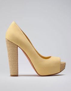 Bershka raffia peep toes