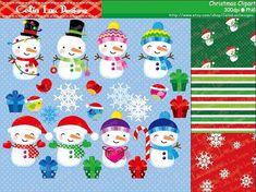 Christmas clipart  Snowman Christmas bird by CeliaLauDesigns