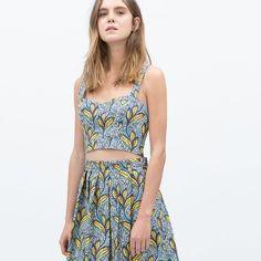 Zara crop top Brand new with tag Zara Tops Crop Tops