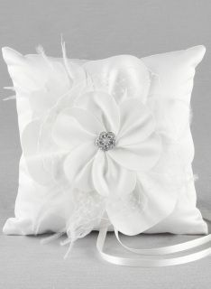 The Somerset Ring Bearer Pillow is adorned with two chic flowers layered in satin, French netting and feathers; and perfectly finished with an Austrian crystal embellishment. Ring Bearer Pillows, Ring Pillows, Aisle Runner Wedding, Satin Flowers, Burlap Flowers, Ring Pillow Wedding, Rings For Girls, Wedding Hair Accessories, Wedding Rings
