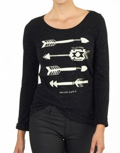 Maison Scotch T-shirt - Arrows Black