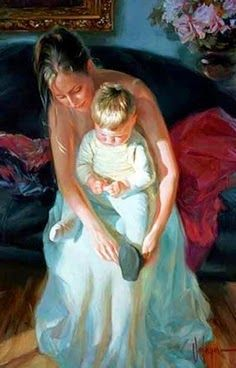 At the Feet of Mother