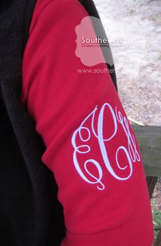 Monogram Sleeve Tee---Long Sleeve.