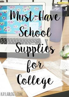 A list of the must have school supplies for college! From pencil cases to staple… A list of the must have school supplies for college! From pencil cases to staplers, this list has everything you'll need for your freshman year of college. College Life Hacks, College School Supplies, College Success, College Classes, College Years, Education College, College Tips, School Tips, Dorm Life