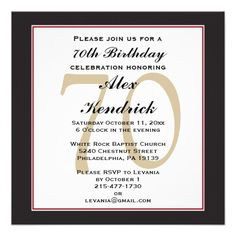 70th Birthday Invitation 75th Invitations 90th Parties Celebration 75