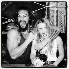 Aquaman is scheduled to begin shooting in Australia in the next few weeks, and it looks like stars Jason Momoa and Amber Heard are getting along just fine. Heard dedicated a Instagr… Jason Momoa Aquaman, Aquaman Actor, Aquaman Film, Movies And Series, Dc Movies, Jason Momoa Wife, Amber Heard Tumblr, Jason Momoa Shirtless, Hercules The Legendary Journeys