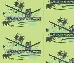 Easy Living, escape, grassland fabric by sophista-tiki on Spoonflower - custom fabric