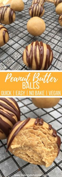No Bake Vegan Peanut Butter Balls, with only 3-ingredients and no added sugar, these are everything you need in a healthy peanut butter snack!