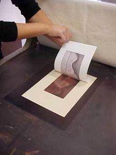 procedimento de entintagem para gravura em metal 9