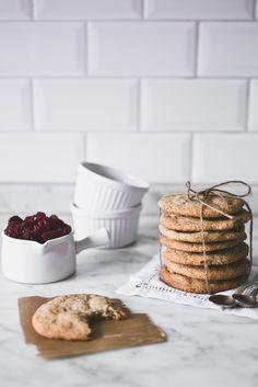 cranberry white chocolate buckwheat cookies