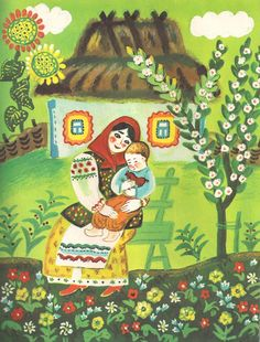 Another sweet Ukrainian nursery rhyme illustration from librarything-svetlanta.blogspot.com